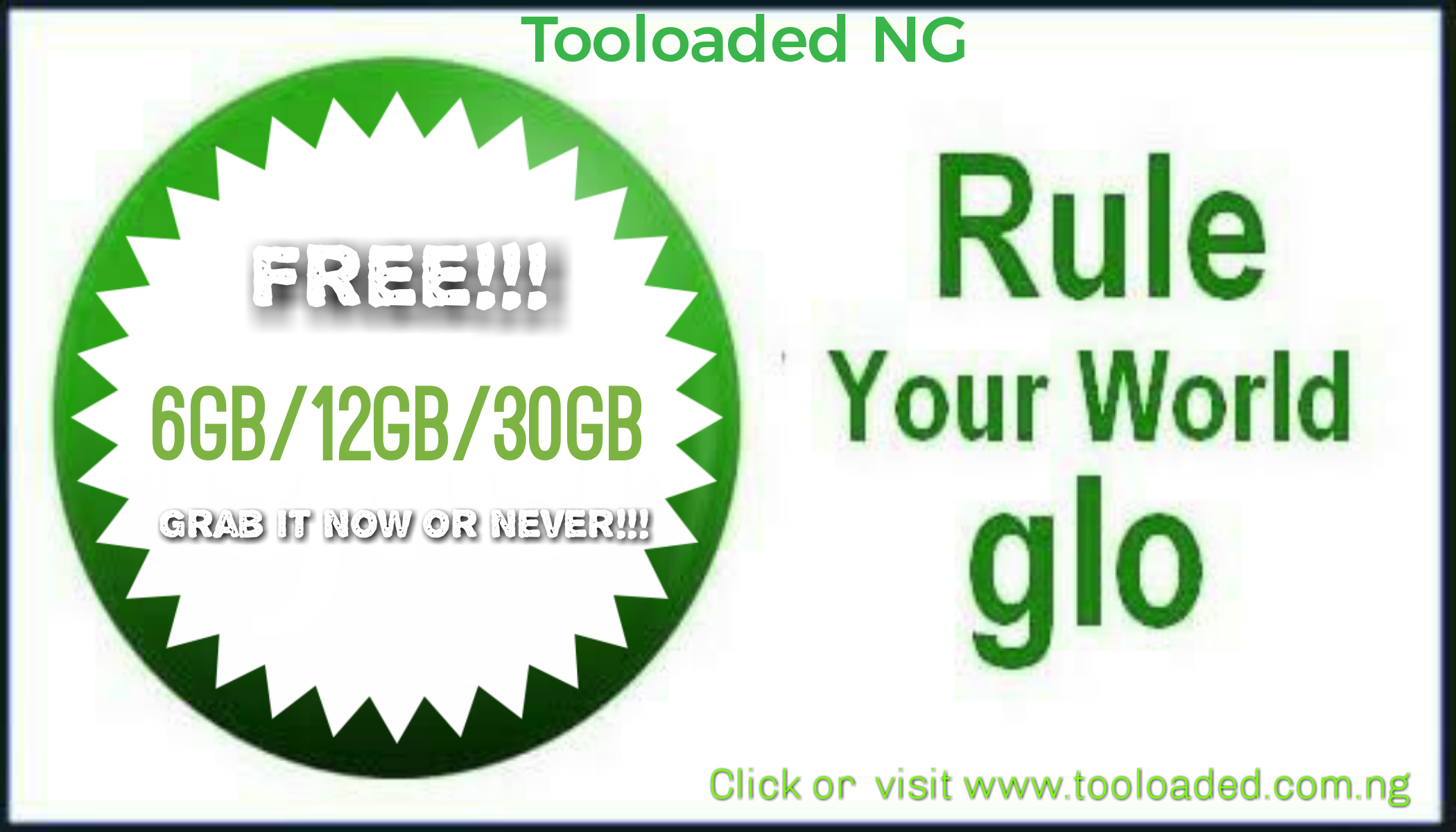 Free Glo Data Bundle (6-30GB)